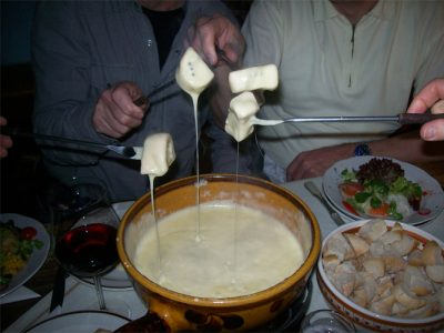 Cheese Fondue at the Zirmalm